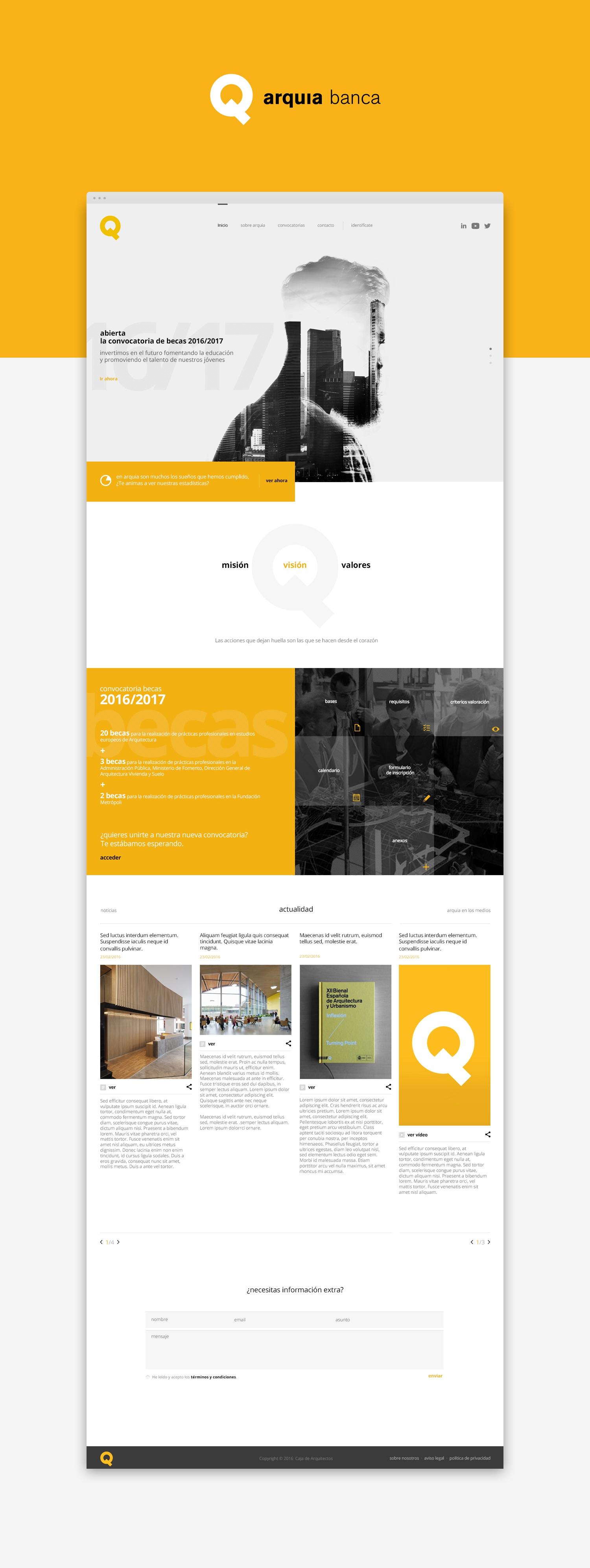 Propuesta diseño web · Arquia · Samuel Matito diseñador freelance