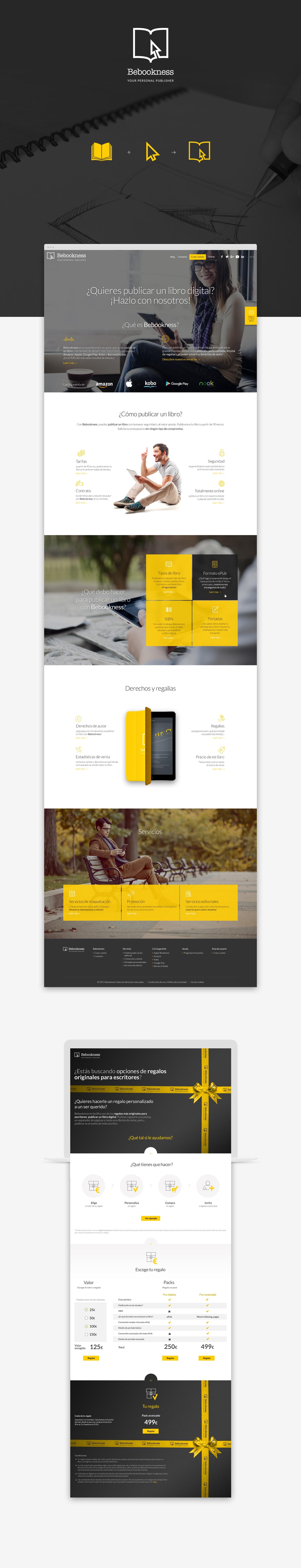 Diseño web responsive · Bebookness · Samuel Matito · diseñador freelance