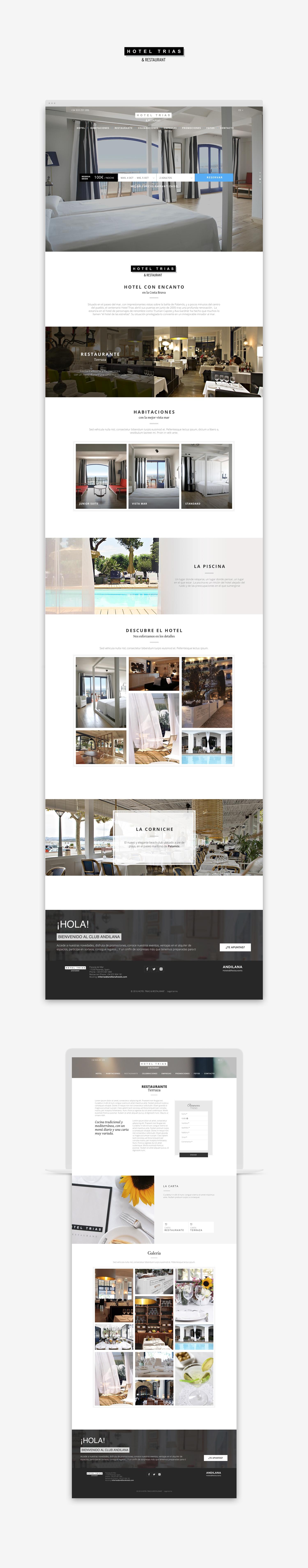 Diseño web hotel · Hotel TRIAS · Samuel Matito · diseñador freelance